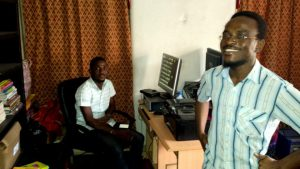 Ayodele Arigbabu (right) in the DADA office